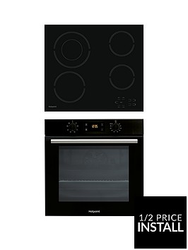 hotpoint-sa2540hblnbsp60cm-built-in-single-electric-oven-and-hr612chnbspceramic-hob-black