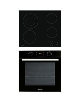 Hotpoint Sa2540Hbl 60Cm Built-In Single Electric Oven And Hr612Ch Ceramic Hob - Black Review thumbnail