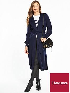 v-by-very-split-side-belted-cardigan