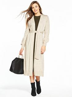 v-by-very-split-side-belted-cardigan-oatmeal-marl