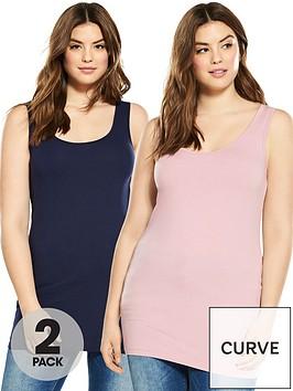 v-by-very-curve-2-pack-longline-vests-blushnavy