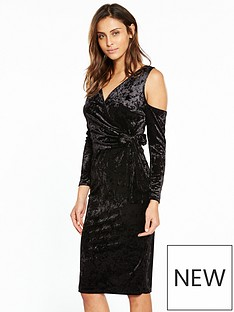 v-by-very-velvet-wrap-midi-dress