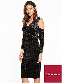 v-by-very-velvet-wrap-midi-dress