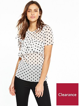 v-by-very-polka-mesh-top