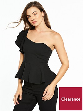v-by-very-peplum-one-shoulder-top-black