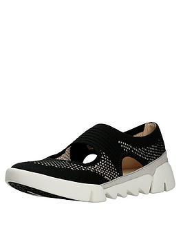 Clarks Tri Blossom Casual Shoe - Black
