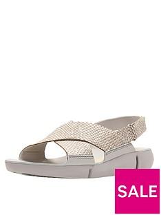 clarks-tri-chloe-chunky-flat-sandal-metallic
