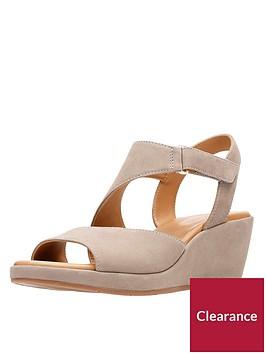 clarks-un-plaza-sling-asymmetric-sandals-grey