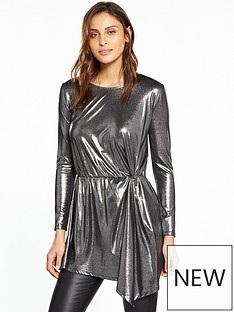 v-by-very-twist-front-metallic-top