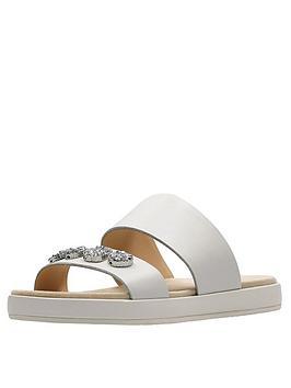 Clarks Botanic Lily Jewel Slide Sandal - Silver