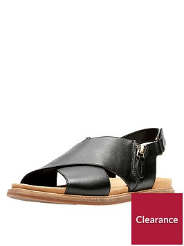 clarks-corsio-calm-thick-strap-flat-sandal-black