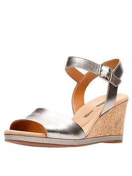 clarks-lafley-aletha-wedge-sandal-pewter