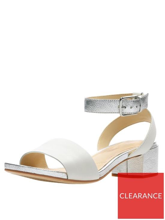 ff19564e34d1 Clarks Orabella Rose Block Heel Sandal - White