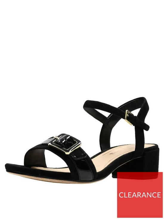 e0aea8eb4a2 Clarks Orabella Shine Buckle Low Heel Sandal - Black