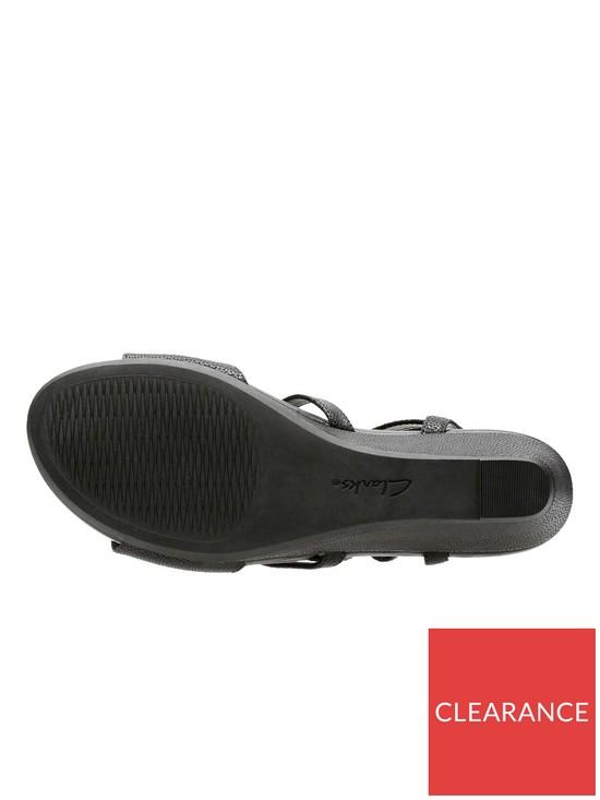 9a978393272 ... Clarks Parram Spice Gladiator Sandal - Black. View larger