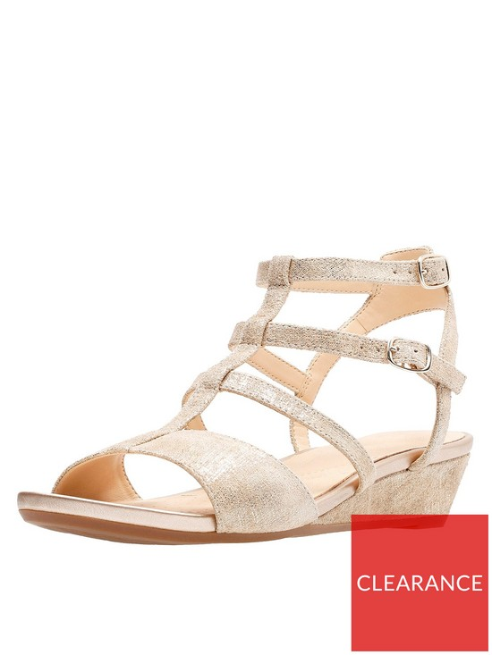 239da3f04 Clarks Parram Spice Gladiator Sandal - Gold Metallic