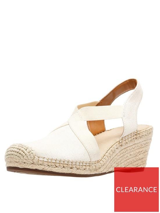 dd07ee70be4 Clarks Petrina Lela Espadrille Wedge Shoe - Natural