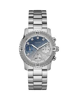 guess-guess-confetti-stone-set-bezel-and-dial-ladies-stainless-steel-bracelet-watch