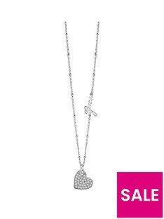 guess-silver-plated-crystal-set-heart-necklace