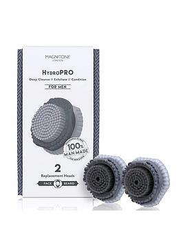 magnitone-london-hyrdropro-face-and-beard-deep-cleanse-brush-heads-for-men-for-use-with-the-clean-sweep-vibra-sonic-brush-pack-of-2
