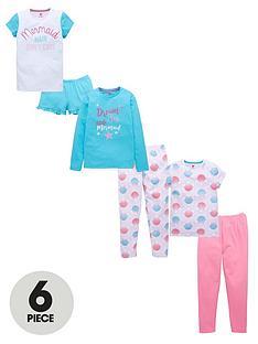 v-by-very-6-piece-mermaid-pyjama-set