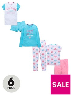 v-by-very-6-piece-mermaid-pyjama-set