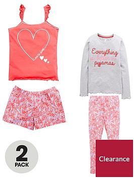 v-by-very-2-pack-floral-frill-pyjamas