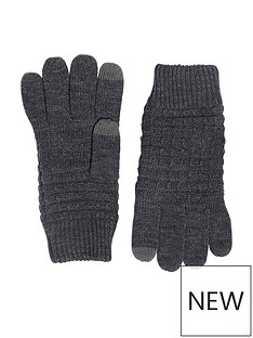 river-island-river-island-mens-waffle-knitted-glove