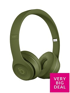 effae4fa85b Beats by Dr Dre Solo 3 Wireless On-Ear Headphones - Neighbourhood  Collection, Turf Green