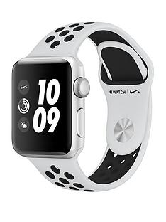 Apple Watch Nike+ Series 3 (GPS), 38mm Silver Aluminium Case with Pure Platinum/Black Sport Band