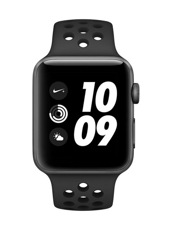 ... Apple Watch Nike+ Series 3 (GPS), 42mm Space Grey Aluminium Case with  Anthracite/Black Sport Band. View larger