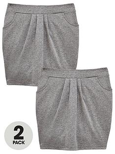 v-by-very-girls-2-pack-jersey-tulip-school-skirts-grey