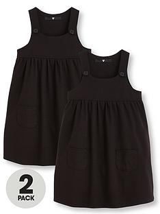 v-by-very-girls-black-2-pack-jersey-pinafore-dress