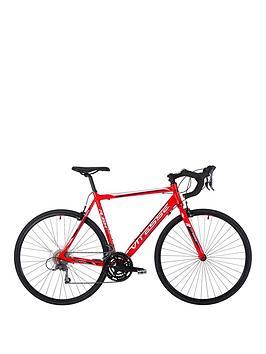 Image of Vitesse Rush Mens Road Bike 22.5 inch Frame STI, Red/Black, Men