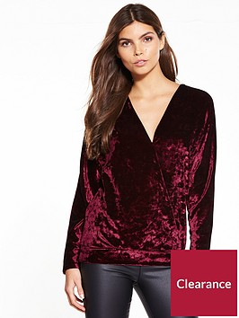 v-by-very-crushed-velvet-wrap-top