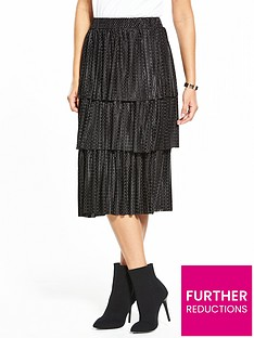 v-by-very-pleated-tier-skirt