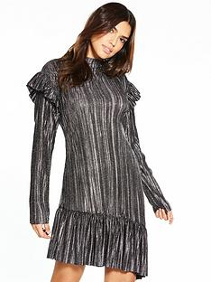 v-by-very-printed-pleated-asymmetric-dress