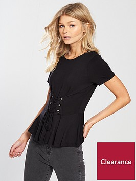 v-by-very-petite-lace-up-front-t-shirt