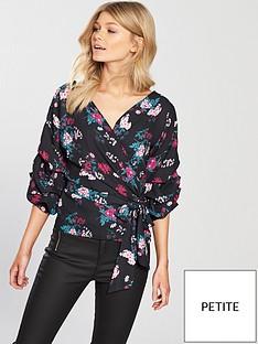 v-by-very-petite-poplin-wrap-blouse