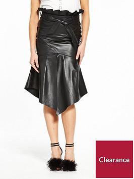 v-by-very-unique-papernbspbag-leather-skirt-black