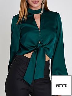ri-petite-crop-blouse--bottle-green