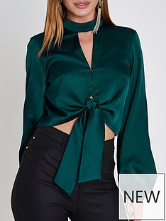 ri-petite-ri-petite-crop-blouse--bottle-green