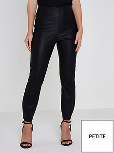 ri-petite-pu-high-rise-trousers--black