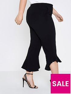 ri-plus-frill-cropped-trousers--black