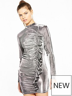 v-by-very-unique-metallic-frill-dress