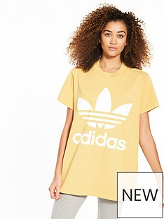 adidas-originals-adicolor-big-trefoil-tee-sand