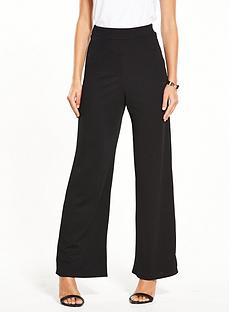 miss-selfridge-wide-leg-pull-on-trouser-black