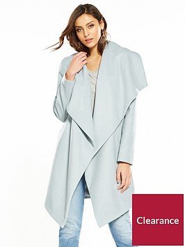 v-by-very-drape-front-coat-blue