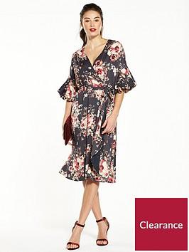 v-by-very-balloon-sleeve-printed-dress