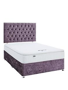 luxe-collection-from-silentnight-florence-1000-pillowtop-divan-bed-and-storage-options-includes-headboardnbspviolet